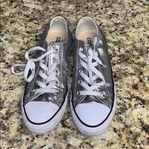 BOGO half off silver metallic converse